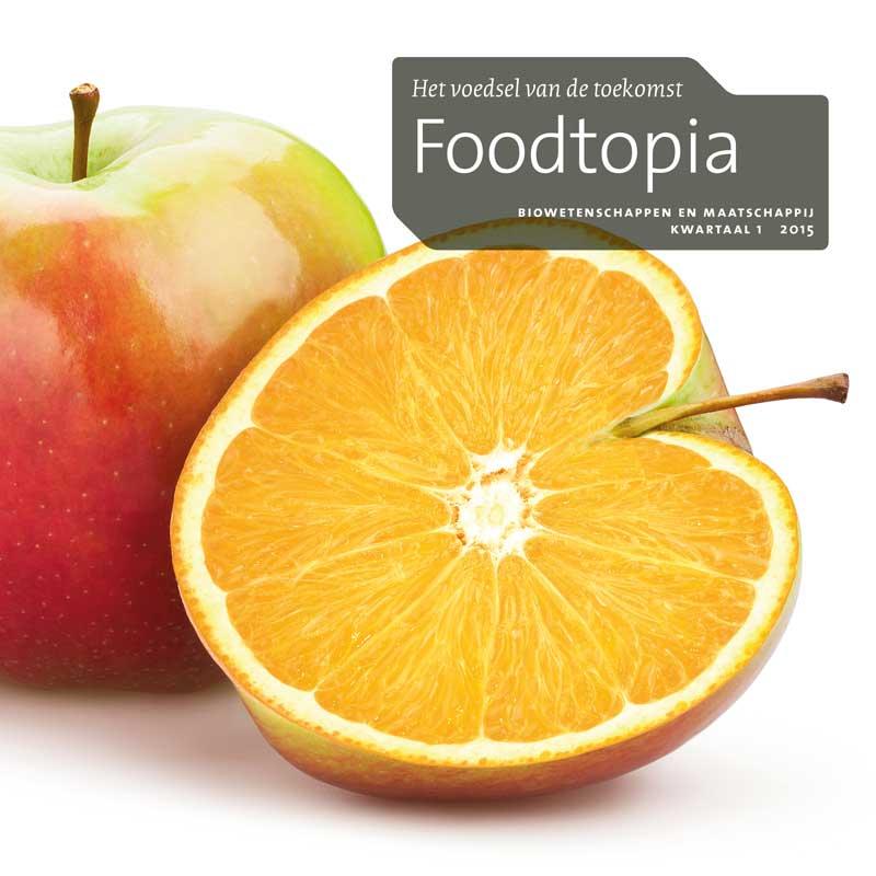 Vormgeving omslag cahier Foodtopia